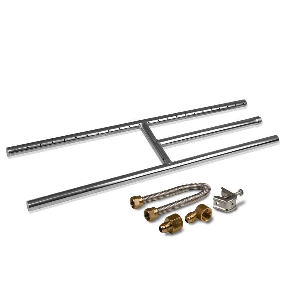 "24"" Stainless Steel Fireplace H-Burner Kit"